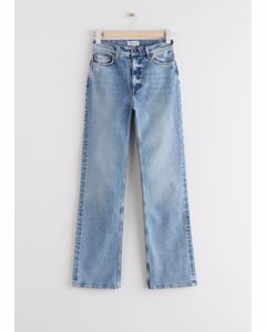 Flared High Waist Jeans Light Blue