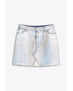 Aria Denim Skirt Silver Silver