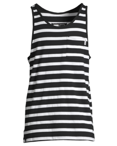 Tank Top Knitted Stripes Black
