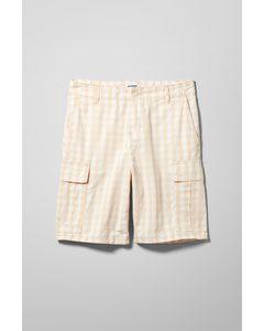Rei Checked Cargo Shorts Beige