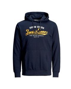 Jack And Jones Logo Hoodie Bla