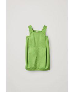 Organic Cotton Apron Dress Green
