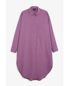 Oversized Shirt Dress Purple