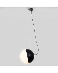Halve Maan Grote Hanglamp - Mat Zwart