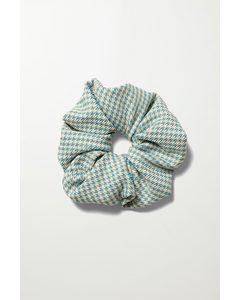 Jules Scrunchie Blue & White