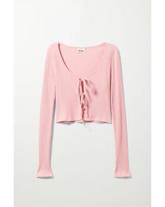 Tie Cardigan Pink
