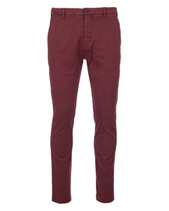 Cotton Chino Trousers Red
