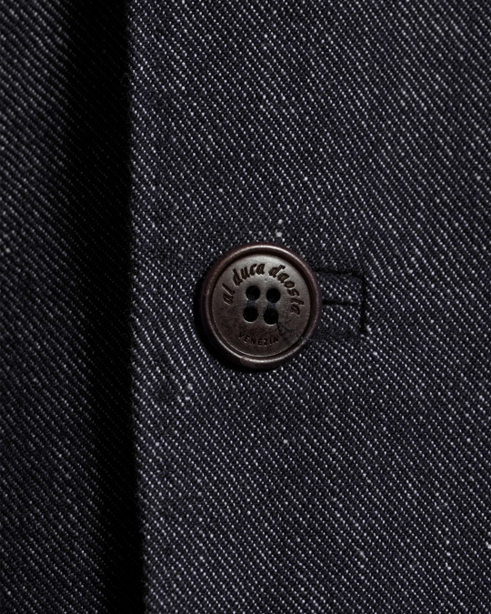 Al Duca D'aosta 1902 Boston Double Button Suit Jacket Chambray Grey