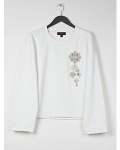 Embellished Sweater  Optic White