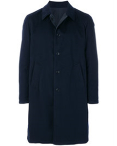 Single Breasted Everyday Coat  Blue