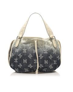 Celine Macadam Bittersweet Denim Handbag Blue