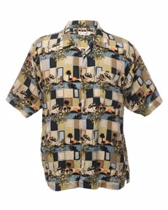 1980s Bill Blass Hawaiian Shirt