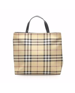 Burberry House Check Tote Bag Brown
