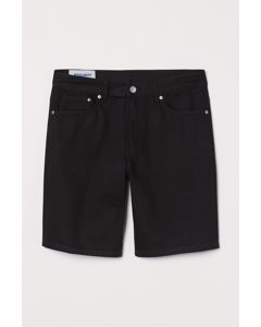 Jeansshorts Regular Schwarz