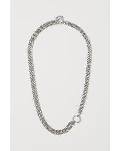 Asymmetriskt Halsband Silver