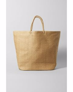 Straw Huge Bag Beige