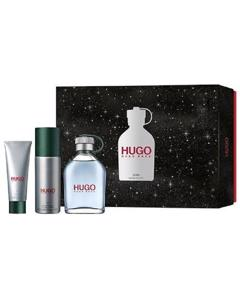 Giftset Hugo Boss Hugo Man Edt 125ml + Deospray 150ml + Shower Gel 50 Ml