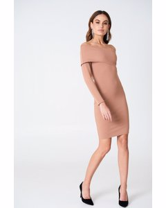 One Sleeve Folded Dress Terracotta