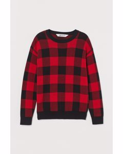 Cotton Jumper Red/black Checked