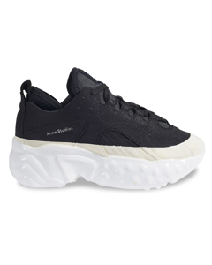 Manhattan Dip Sneakers In Black And White Polyester