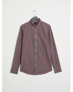 Mvp Burwell Small Scale Poplin Check Shirt  Red