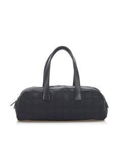 Chanel New Travel Line Canvas Handbag Black