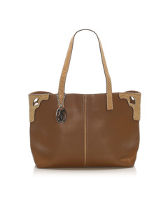 Cartier Marcello Leather Tote Bag Brown