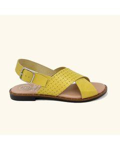 Corfu Leather Flat Sandals