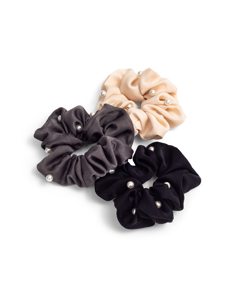 3-pack Scrunchies With Pearl Detail Multi