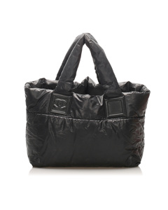 Chanel Cocoon Nylon Handbag Black