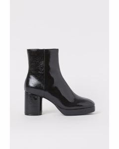 Warm-lined High Profile Boots Black
