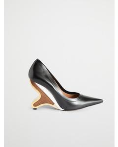 Sculptural Heel  Black