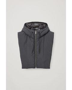 Reversible Hooded Snood Black