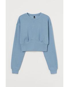 Cropped Sweatshirt Hellblau