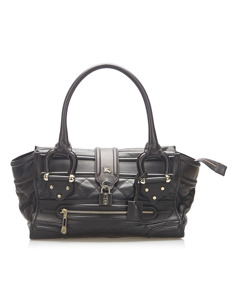 Burberry Manor Quilted Leather Bag Black