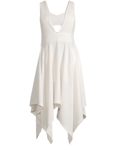 Augusta Fan Napkin Dress Cream