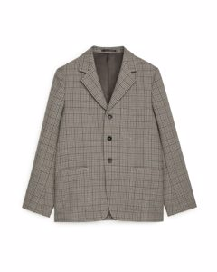Casual Blazer Tweed Dark Beige