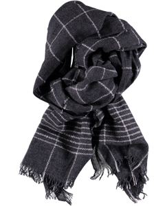 Scarf Check Melange Antracite