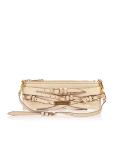 Burberry Bridle Lynher Leather Baguette Brown