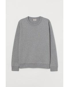 Sweatshirt aus Pima-Baumwolle Graumeliert