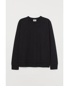 Sweatshirt aus Pima-Baumwolle Schwarz