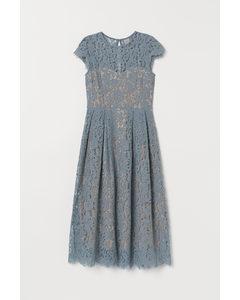 Kanten Midi-jurk Turkoois
