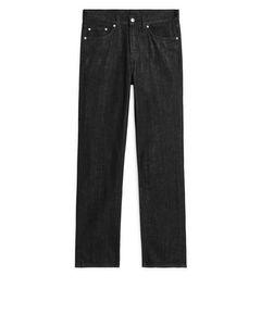Straight Rinsed Black Jeans Black