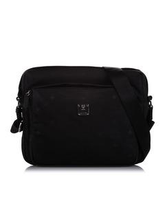 Mcm Visetos Nylon Crossbody Bag Black