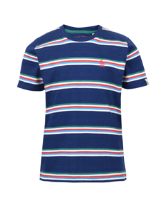 Multi Stripe Tee Navy