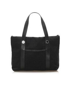 Bvlgari Logomania Canvas Tote Bag Black