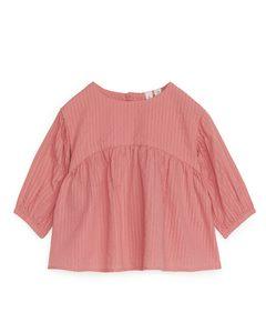 Seersucker Blouse Pink