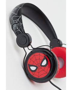 On-Ear-Kopfhörer mit Druck Schwarz/Spiderman