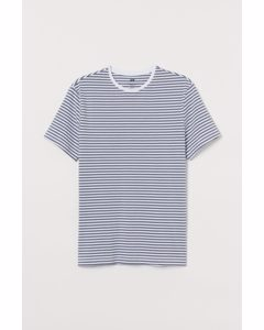 T-Shirt Slim Fit Grau gestreift