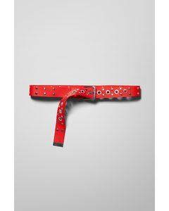 Juni Studded Belt Red